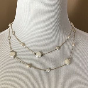 "Stella & Dot Jewelry - Stella & Dot coin pearl 40"" necklace"